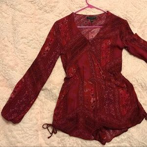 Kendall & Kylie Red Paisley Romper- Small